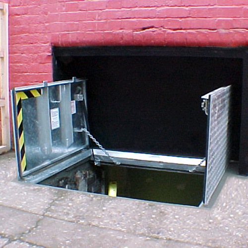 Cellar Access Beer Drop Door External